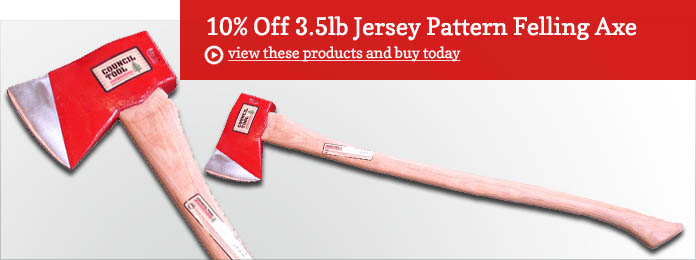 10% Off 3.5lb Jersey Pattern Felling Axe