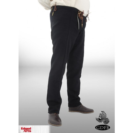 15 Century Trousers - Black - X Large - GB0249