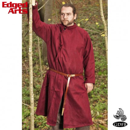 Wool Coat 10th Century - Large - Maroon - GB0273