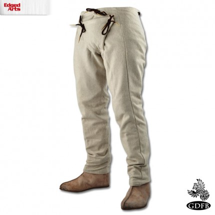 15 Century Trousers - Wool - Natural - Large - GB3134