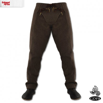 15 Century Trousers - Wool - Brown - X Large - GB3155