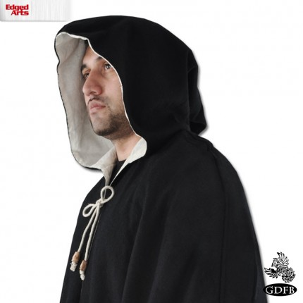 Wool Cloak - Black - GB3281