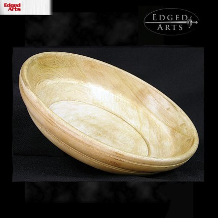 Medieval Style Wood Eating Bowl - 5 inch - OB0590