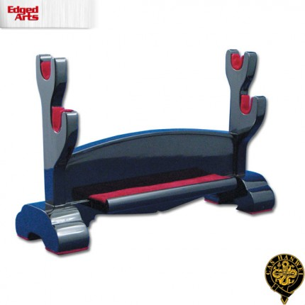 Black Lacquered Double Sword Stand - OH1213
