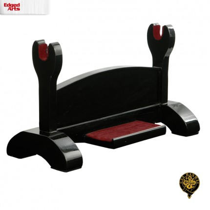 Black Lacquered Single Sword Stand - OH2105