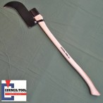 "12 inch ""Bush Hook""  or Long Handled Bill Hook Single Edge 36"" Hickory Handle - Made in the USA by Council Tools – CT-122C"