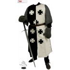 Black & White Crusader Surcoat - Linen - GB0205