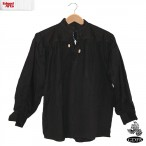 Cotton Shirt - Black - Medium - GB3033