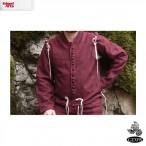 Vest Coat - Wool - Burgundy - X Large - GB3333