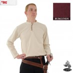 Thick Cotton Shirt - Burgundy - Large - GB3562