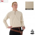 Thick Cotton Shirt - Natural - Medium - GB3570