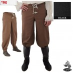Trousers - Button Front - Black - Size 34 - GB3733