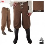 Trousers - Button Front - Brown - Size 34 - GB3734