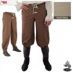 Trousers - Button Front - Natural - Size 34 - GB3736