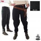Trousers - Button Front - Tapered Ankle - Black - Size 36 - GB3828