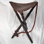 Traditional Wood and Leather Folding Stool. Made in Spain – HR-M06