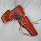 Tan Leather Western Style Single Holster Rig – Medium – Made in Spain - HR-M03-M