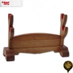 Wooden Double Sword Stand - OH2104