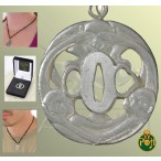 Three Monkey Tsuba Pendant - OH3035S