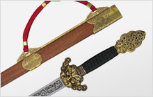 A photo of a chinese sword