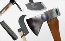 A montage of various gardening tools